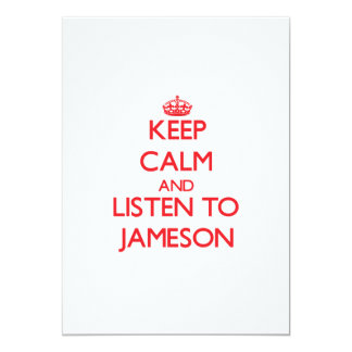 Keep Calm and Listen to Jameson 5x7 Paper Invitation Card