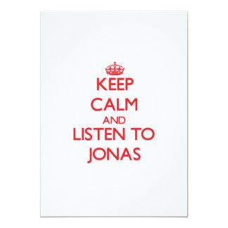 Keep Calm and Listen to Jonas 5x7 Paper Invitation Card