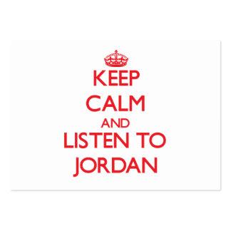 Keep calm and Listen to Jordan Business Card Template