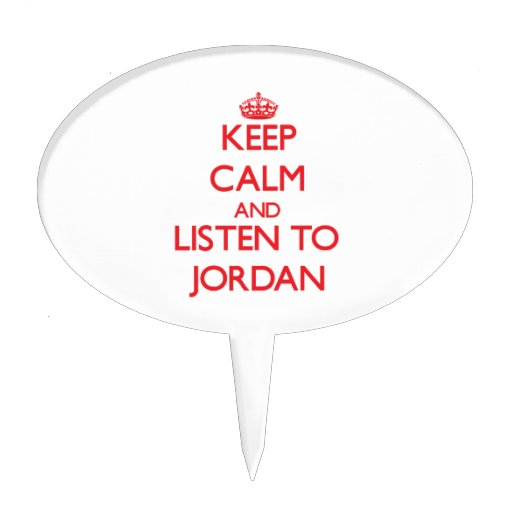 Keep Calm and listen to Jordan Cake Topper