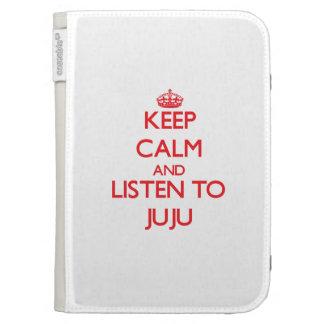 Keep calm and listen to JUJU Kindle Folio Cases