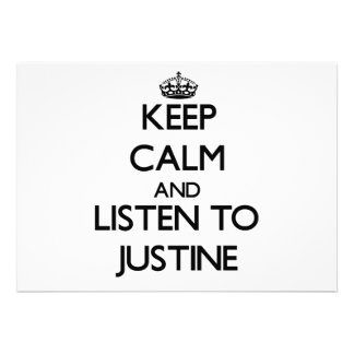 Keep Calm and listen to Justine Announcement