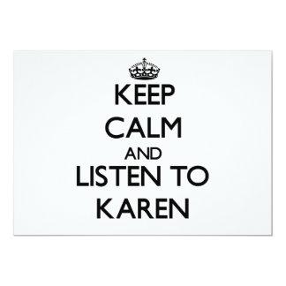 Keep Calm and listen to Karen Cards