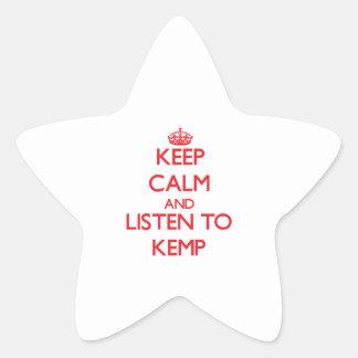 Keep calm and Listen to Kemp Star Sticker