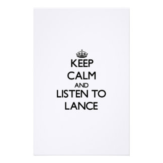 Keep Calm and Listen to Lance Custom Stationery