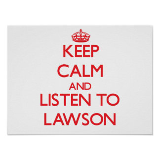 Keep calm and Listen to Lawson Poster