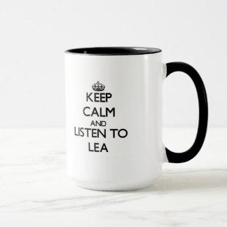 Keep Calm and listen to Lea Mug