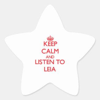 Keep Calm and listen to Leia Star Sticker