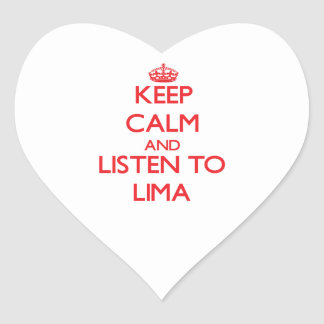 Keep calm and Listen to Lima Stickers