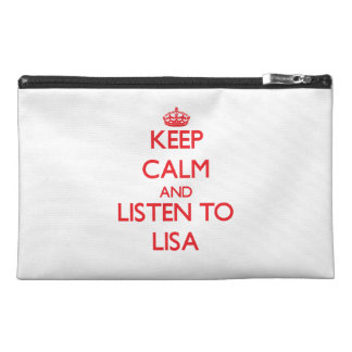 Keep Calm and listen to Lisa Travel Accessories Bag