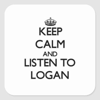 Keep calm and Listen to Logan Square Stickers