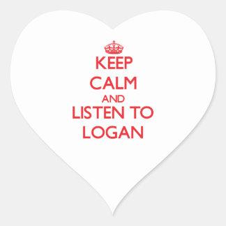 Keep calm and Listen to Logan Sticker