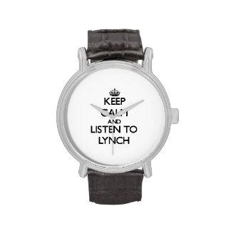 Keep calm and Listen to Lynch Wristwatch