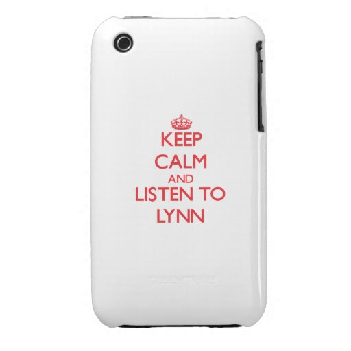 Keep calm and Listen to Lynn iPhone 3 Cover