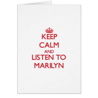 Keep Calm and listen to Marilyn Greeting Card