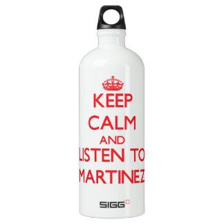 Keep calm and Listen to Martinez SIGG Traveler 1.0L Water Bottle