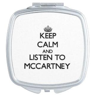 Keep calm and Listen to Mccartney Travel Mirror