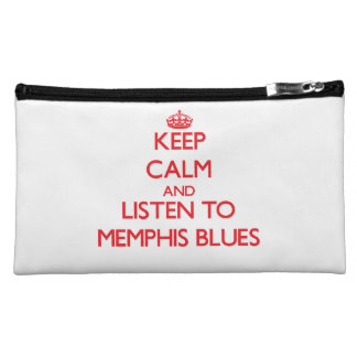 Keep calm and listen to MEMPHIS BLUES Cosmetics Bags