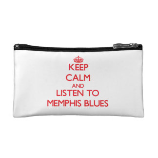 Keep calm and listen to MEMPHIS BLUES Makeup Bags