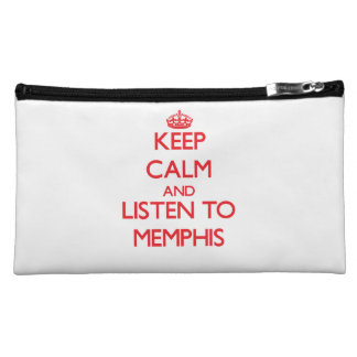 Keep Calm and Listen to Memphis Cosmetic Bag