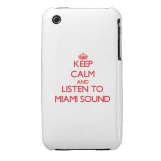 Keep calm and listen to MIAMI SOUND iPhone 3 Case-Mate Cases