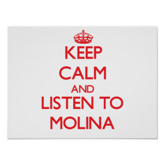 Keep calm and Listen to Molina Poster