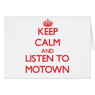 Keep calm and listen to MOTOWN Card