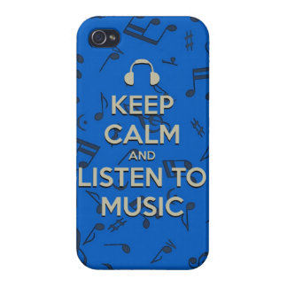 keep calm and listen to music iPhone 4 case