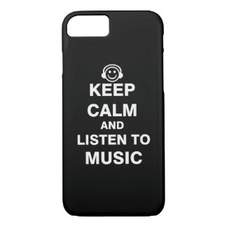 Keep Calm and Listen to Music iPhone 7 Case