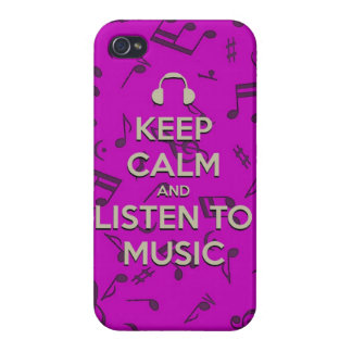 keep calm and listen to music iPhone 4 cover