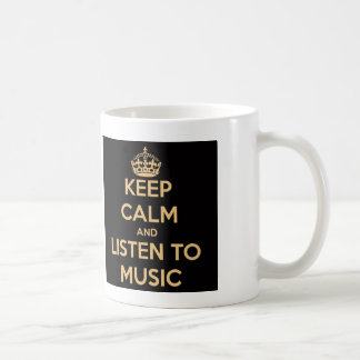Keep Calm and Listen to Music Mug