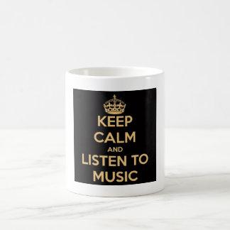 Keep calm and listen to music mug mugg