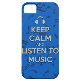 keep calm and listen to music phone case iPhone 5 case