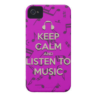 keep calm and listen to music phone case iPhone 4 cover