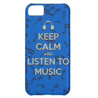 keep calm and listen to music phone case case for iPhone 5C