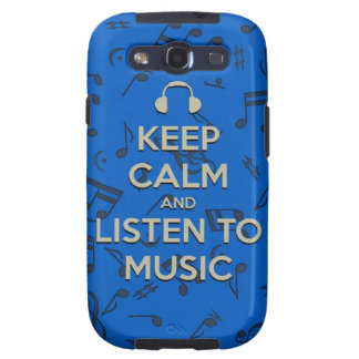keep calm and listen to music phone case samsung galaxy s3 covers