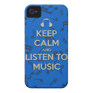keep calm and listen to music phone case Case-Mate iPhone 4 case