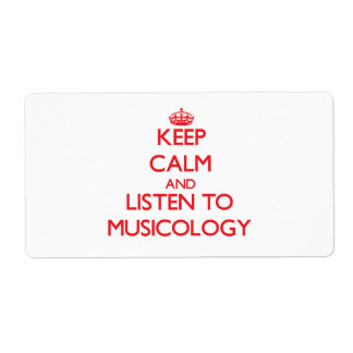 Keep calm and listen to MUSICOLOGY Shipping Label