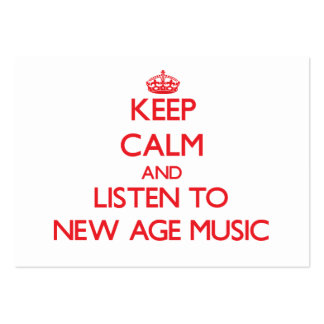 Keep calm and listen to NEW AGE MUSIC Business Card Template