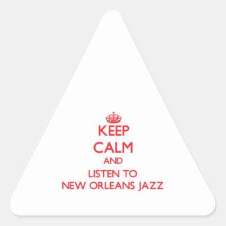 Keep calm and listen to NEW ORLEANS JAZZ Sticker