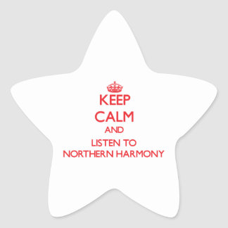 Keep calm and listen to NORTHERN HARMONY Sticker