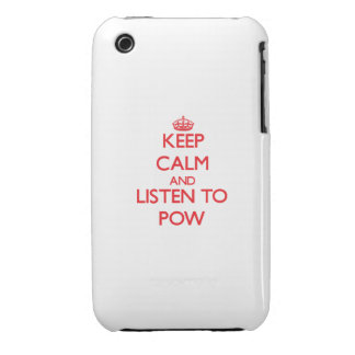 Keep calm and listen to POW iPhone 3 Case-Mate Cases