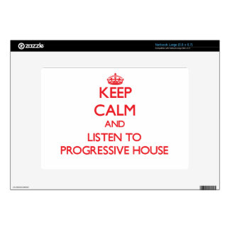 Keep calm and listen to PROGRESSIVE HOUSE Decals For Netbooks