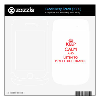 Keep calm and listen to PSYCHEDELIC TRANCE Skin For BlackBerry