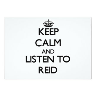 Keep calm and Listen to Reid 5x7 Paper Invitation Card