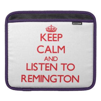 Keep Calm and Listen to Remington iPad Sleeve