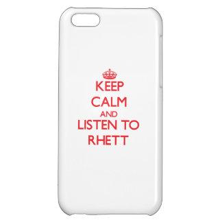 Keep Calm and Listen to Rhett iPhone 5C Cover