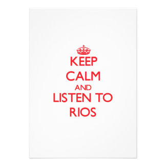 Keep calm and Listen to Rios Personalized Invitation