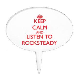Keep calm and listen to ROCKSTEADY Cake Picks