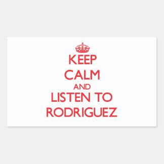 Keep calm and Listen to Rodriguez Rectangular Sticker